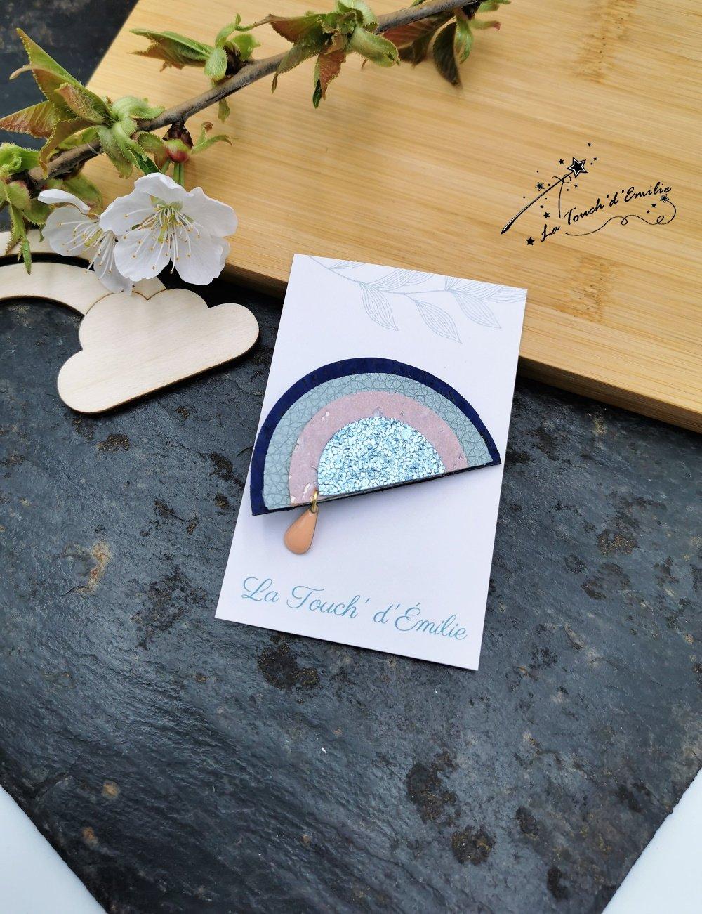 Broche Arc-en-Ciel Bleu poudré--2226174530404
