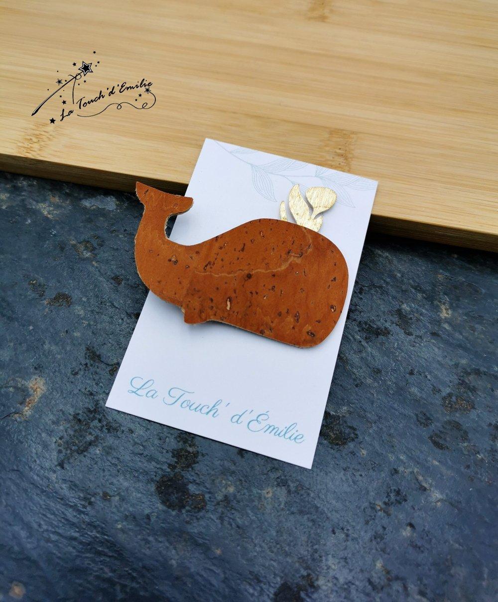 Broche Baleine Camel--2226194674607