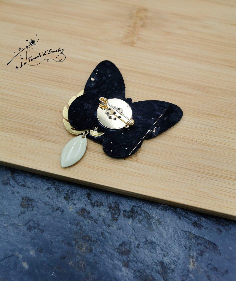 Broche Papillon Soleil Bleu--2226196041360