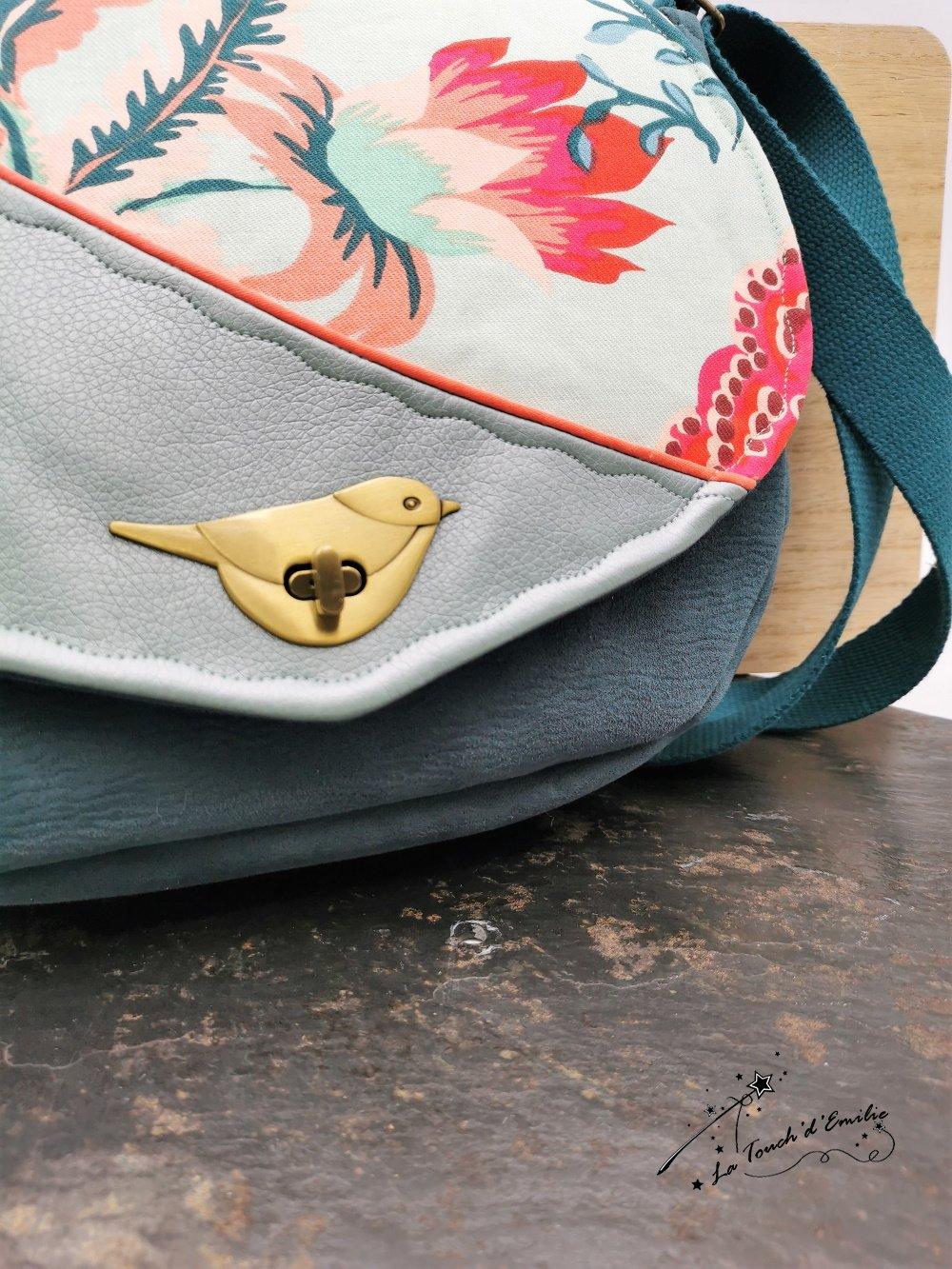 Sac Oiseau Bleu Tropical--2226148037052