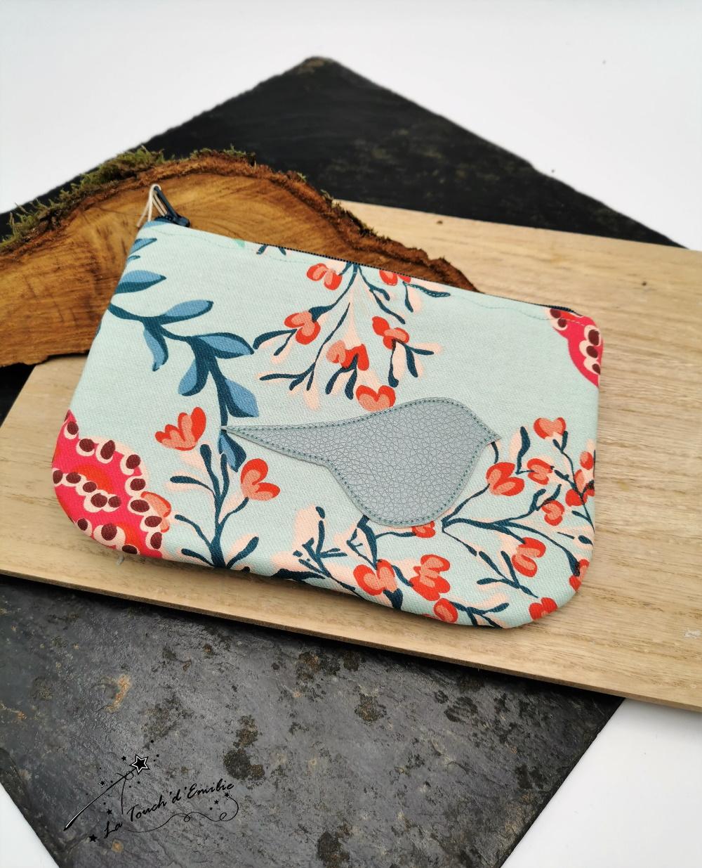 Pochette Plate Bleu Tropical--2226173600351