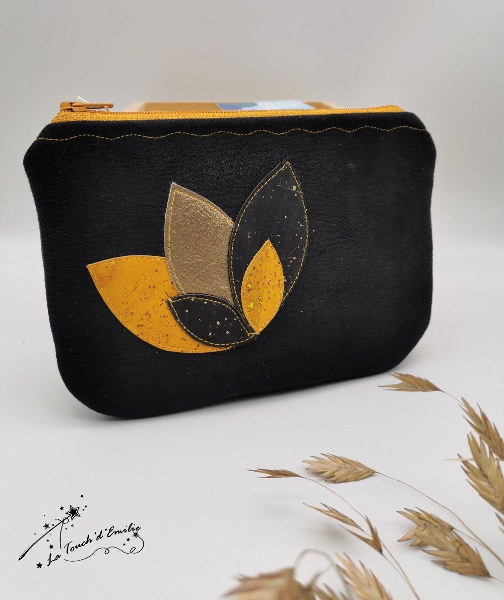 Pochette Nymphéa Gold noire--2226018156456