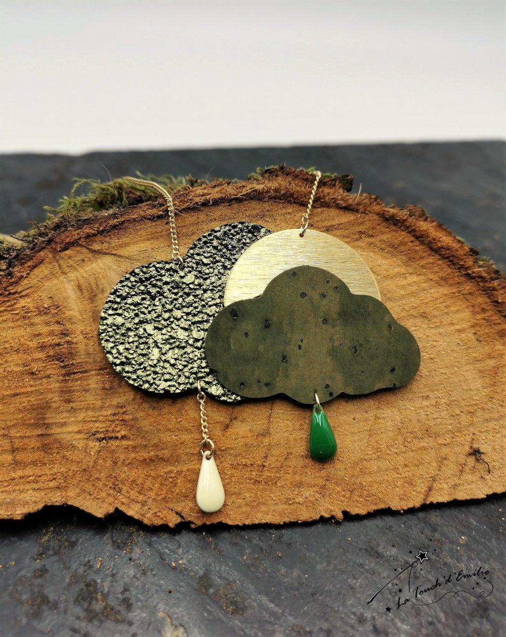 Sautoir Nuage Glitter Green--2226148887923