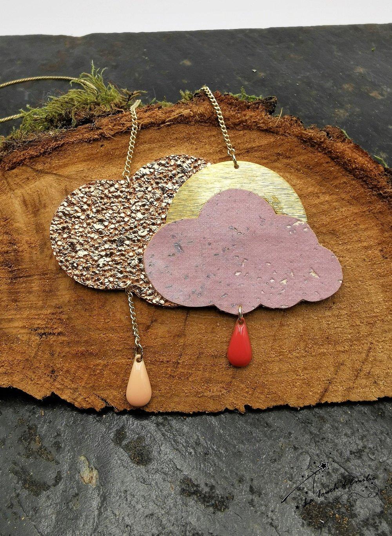 Sautoir Nuage Cuivre rose--2226148883116