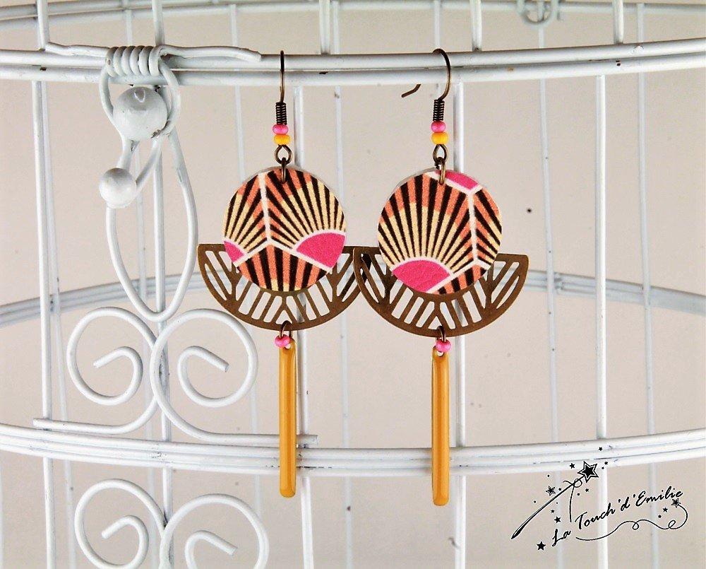 Boucles Soleil Levant Hexagone--2225415321931