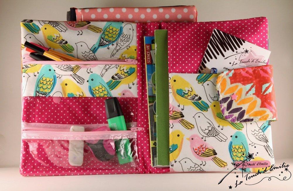 Carnet de Voyage Enduit coloré et oiseaux...--2224795366907