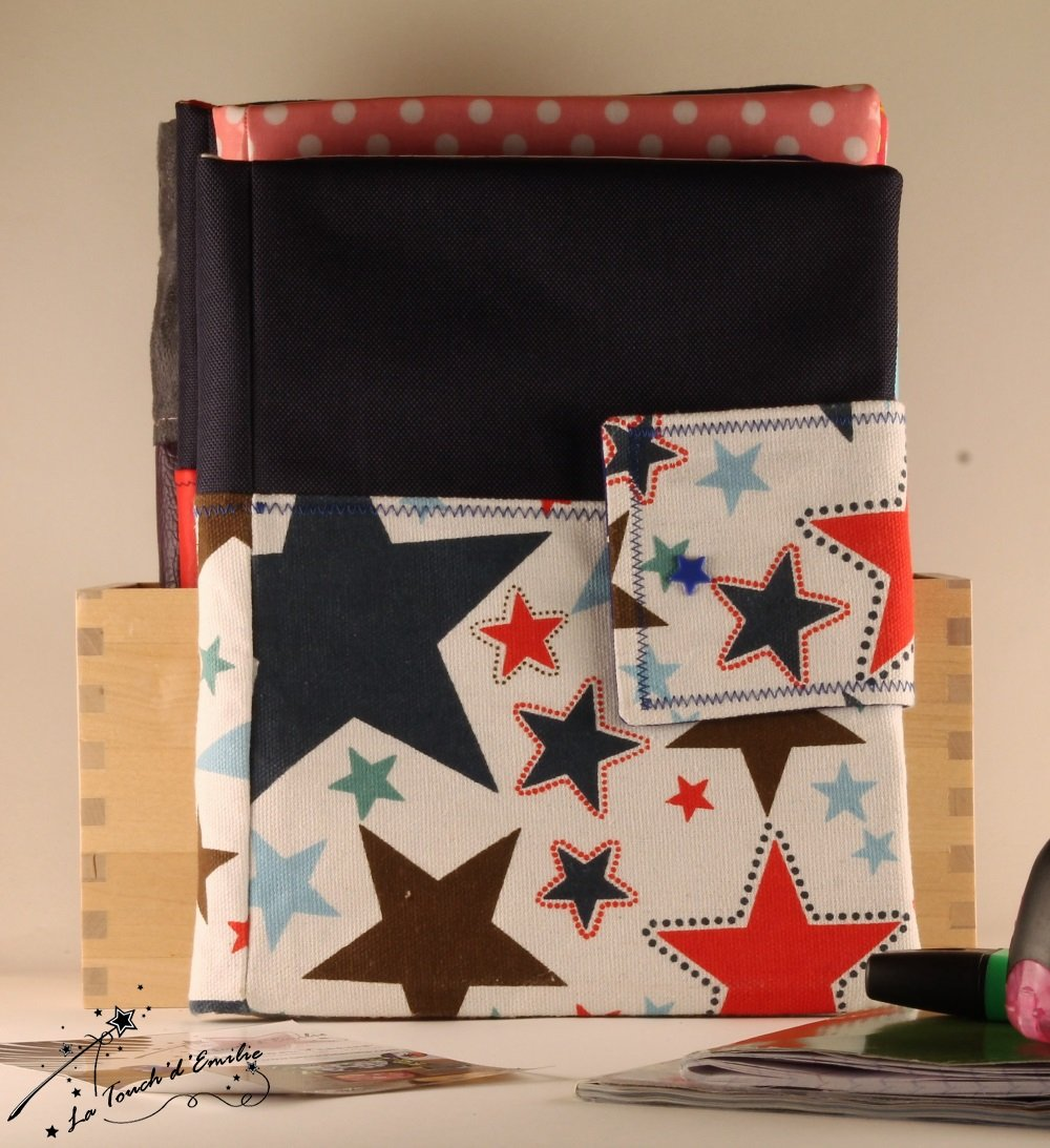 Carnet de voyage Etoiles et toile spéciale sac.--2224845797064