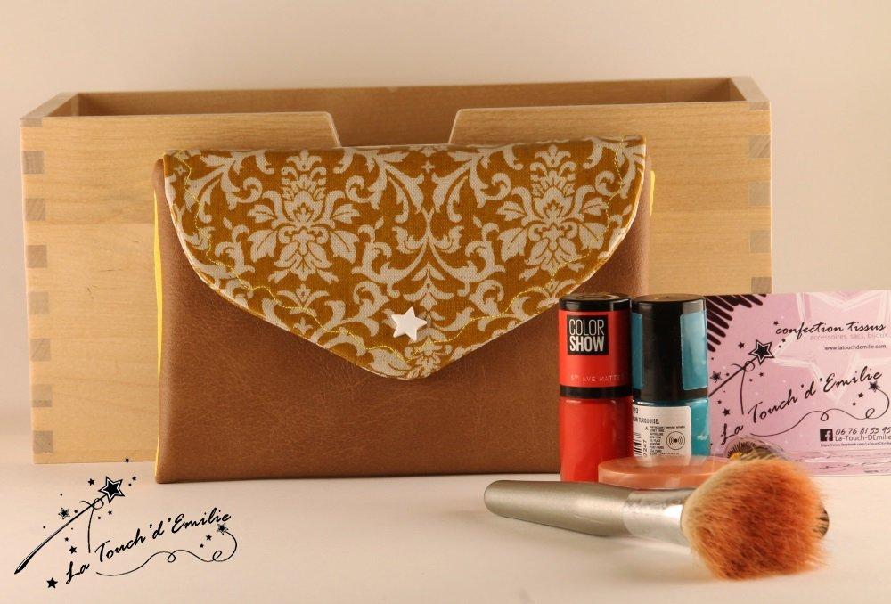 La Trousse à Manucure et MaquillageBaroque Ocre Jaune--2225174207149