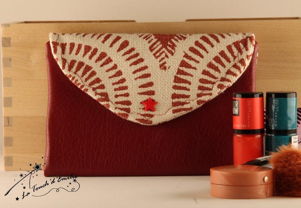La Trousse à Manucure et Maquillage Rouge Spirale--2225169104835