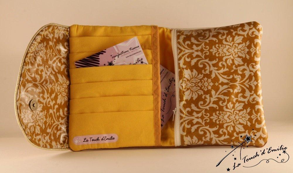 Le combi cartes-monnaie Baroque Ocre Jaune.--2225174085228