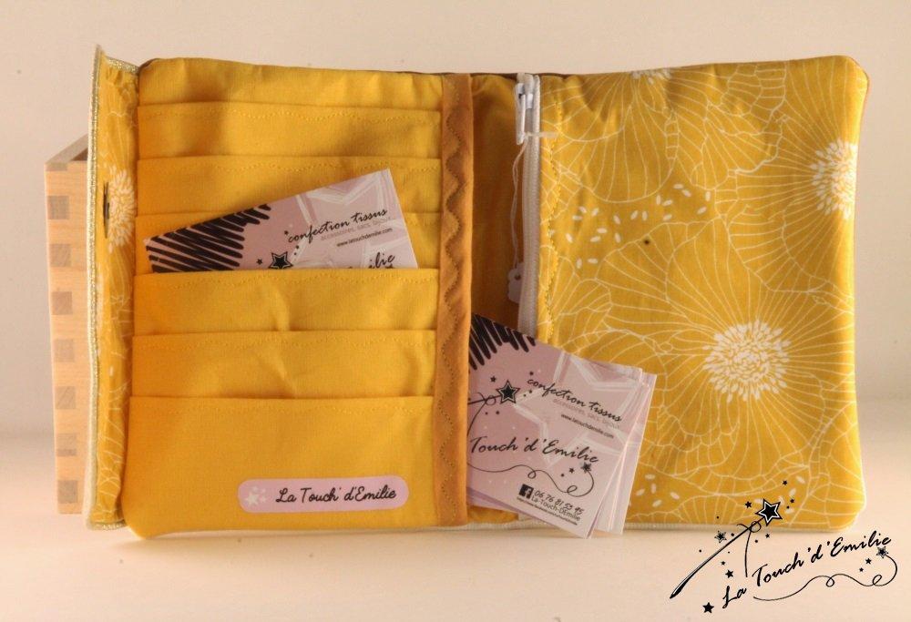 Le combi cartes-monnaie Camel Floral Jaune--2225372574265