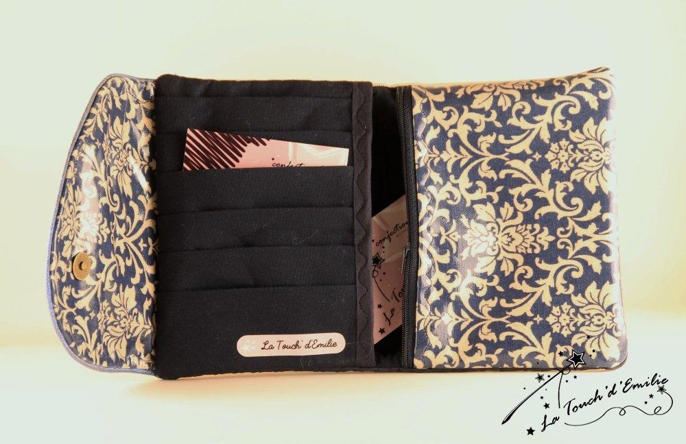 Le combi cartes-monnaie Baroque Bleu.--2225174075472