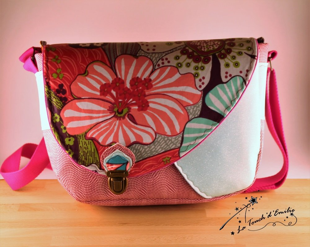 Le Sac Nouvelle Vague Fusion Rose et Enduit mat Floral--2224974466169