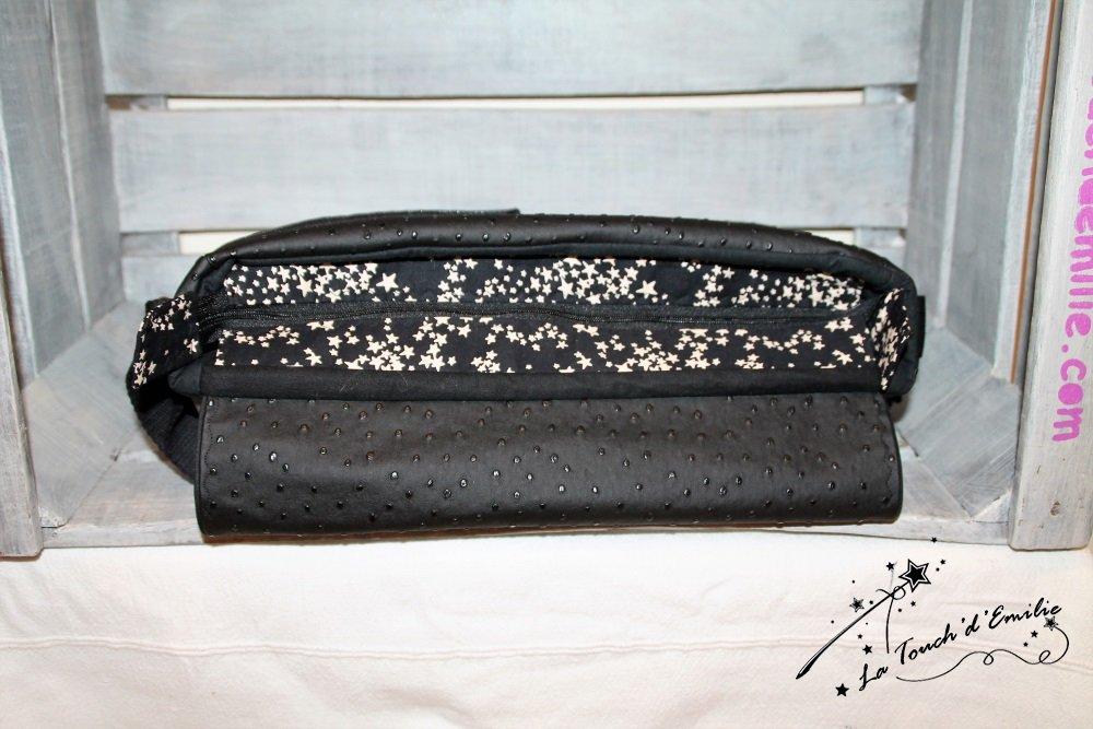 Le Sac Nouvelle Vague La Touch' D'Emilie, nuée d'étoiles fond noir.--2224815612816