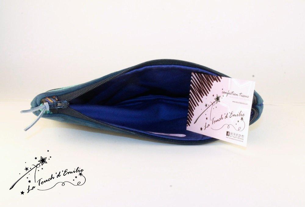 Maxi Compagnon Bleu Ethnique Géométrique--2225564738352