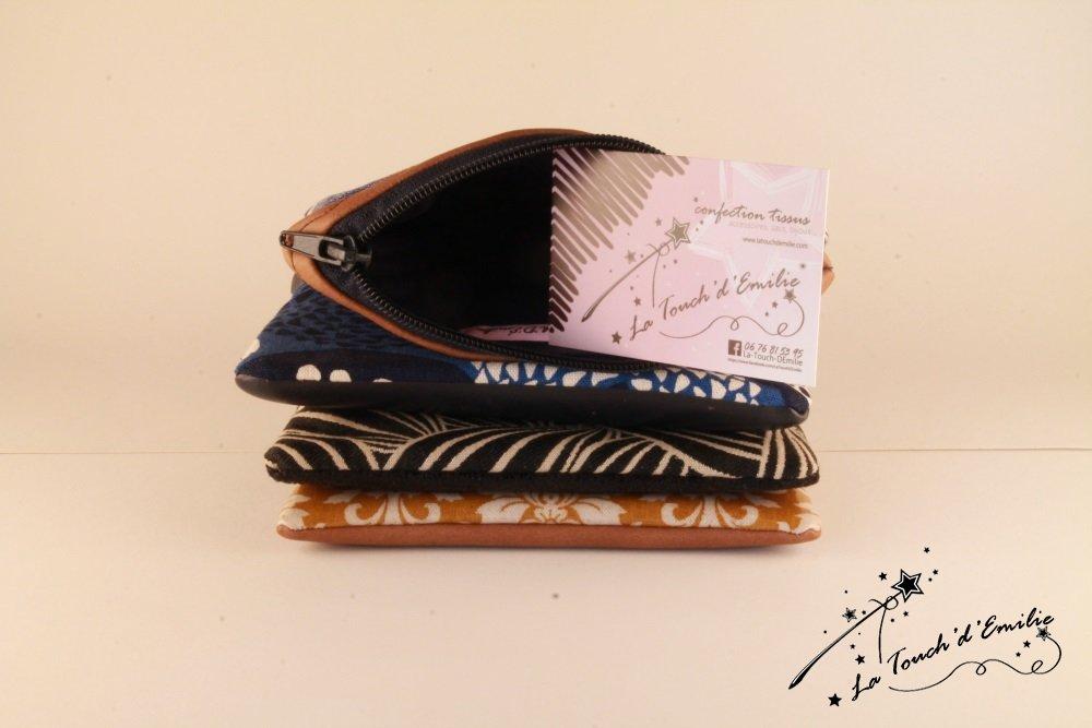 Pochette Monnaie -Cartes Camel Floral Bleu--2225528543510