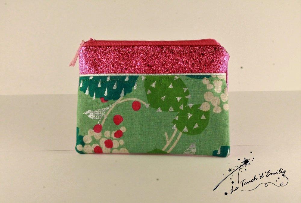 Pochette Monnaie -Cartes Green Garden Rose--2225582482442
