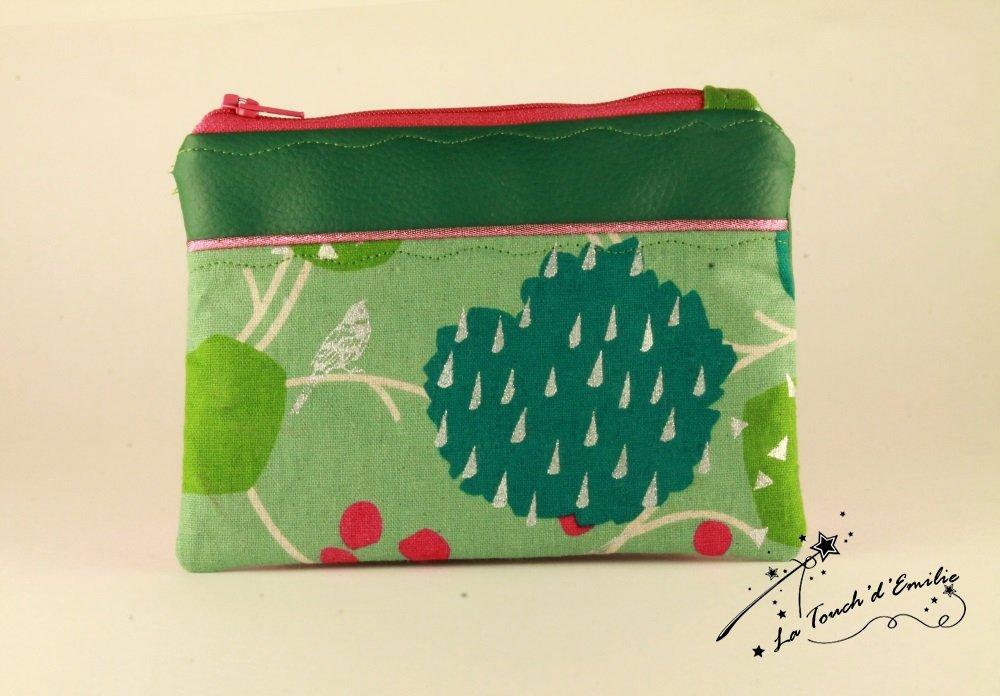 Pochette Monnaie -Cartes Green Garden--2225574982271
