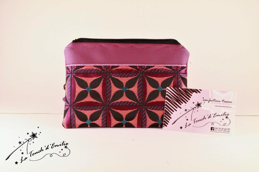 Pochette Monnaie -Cartes Purple Black Géométrique--2225518809138