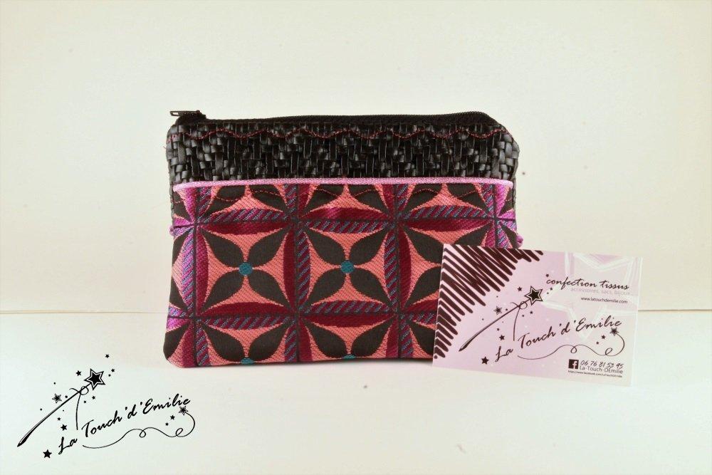 Pochette Monnaie -Cartes Purple Black Géométrique--2225518802214