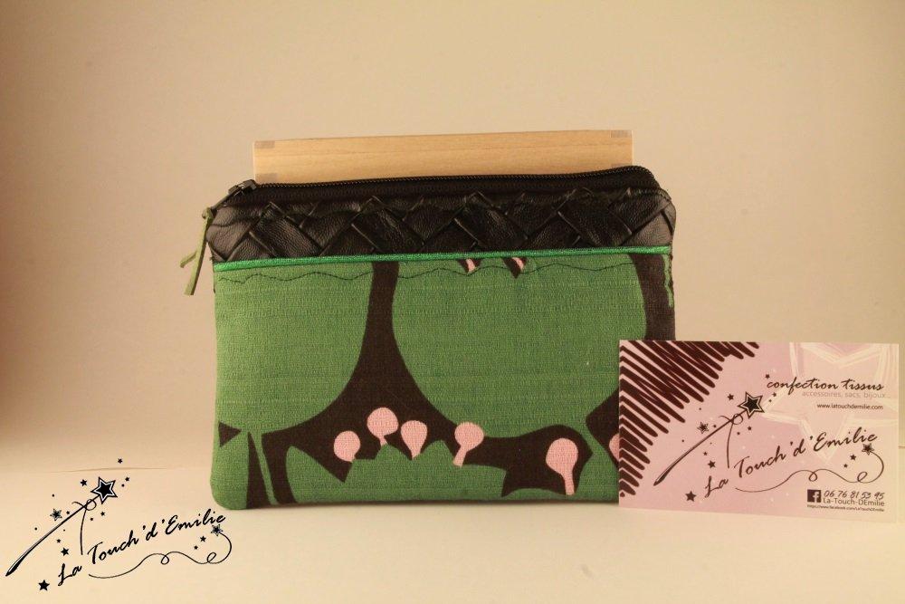 Pochette Monnaie -Cartes Vert Vintage--9995501805913