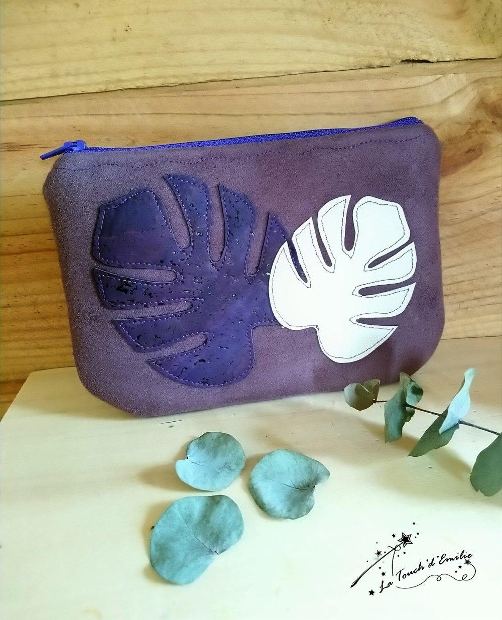 Pochette Monstera Purple--2225883337946