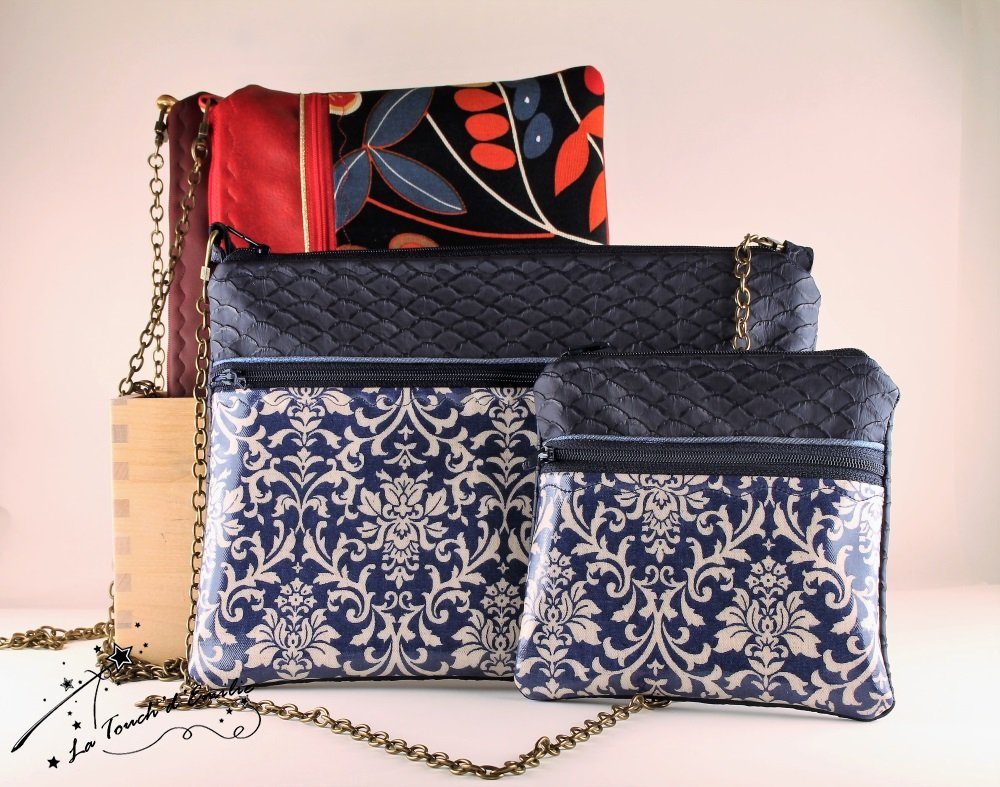 Pochette de Soirée Bleu Baroque--2225156042386