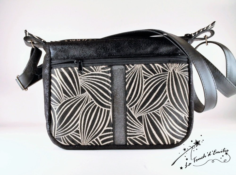 Sac Balade Middle Jungle Chic Black and White--2225425693943
