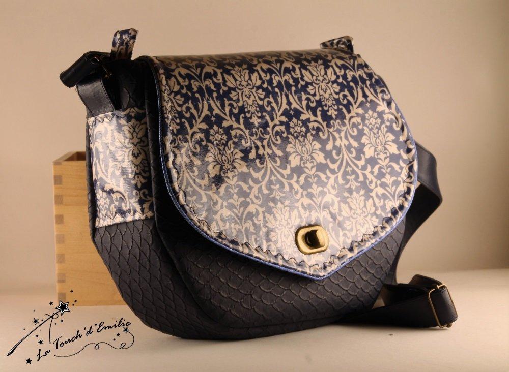 Sac Besace Baroque Bleu--2225174208863