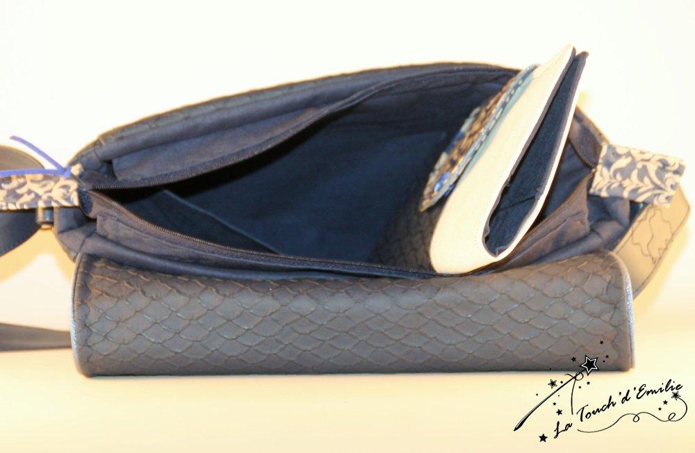 Sac 'Middle' Bleu Baroque--2225174068917