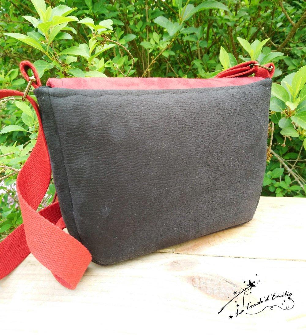 Sac Monstera Rouge et Noir--9995889670615