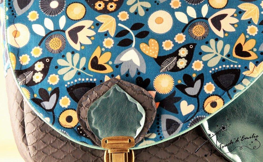 Sac Nouvelle Vague Velours Floral Bleu--2225404929346