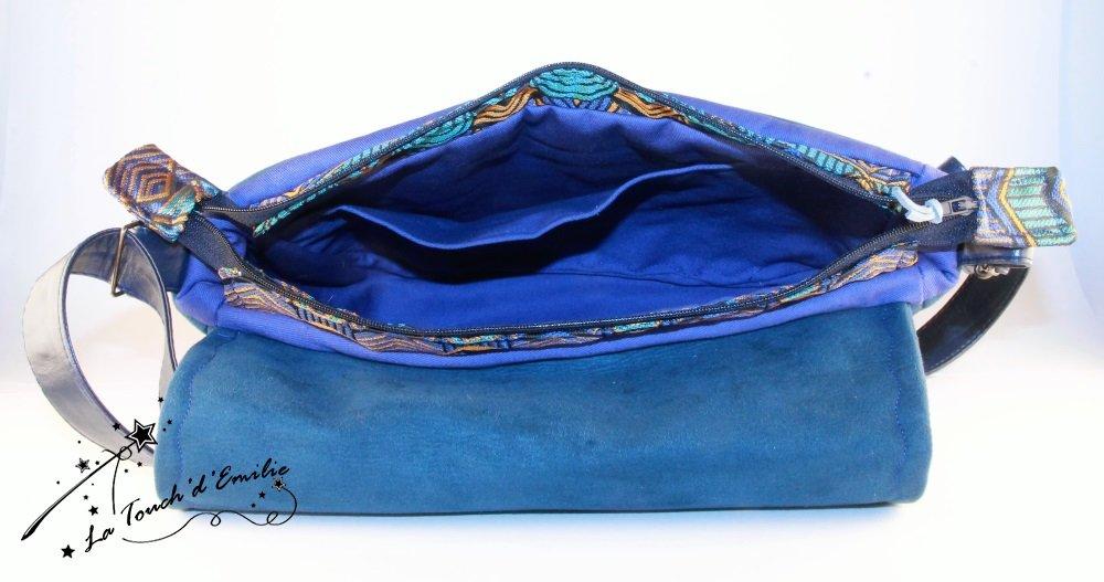 Sac Nuage Oiseau Bleu Ethnique Géométrique--2225564742045