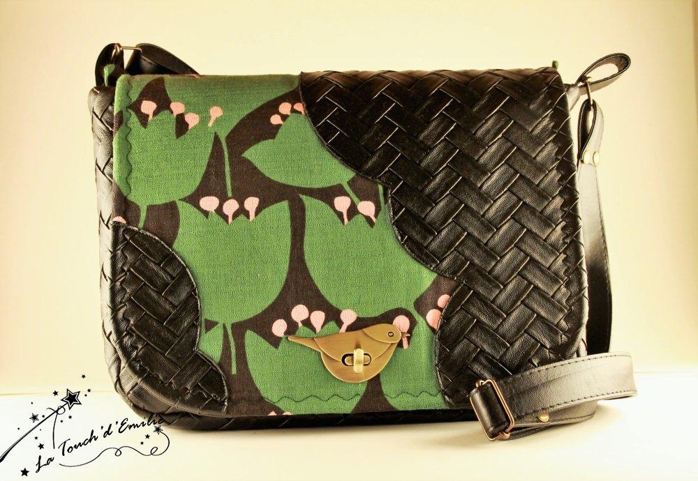 Sac Nuage Oiseau Vert Vintage--2225501773422