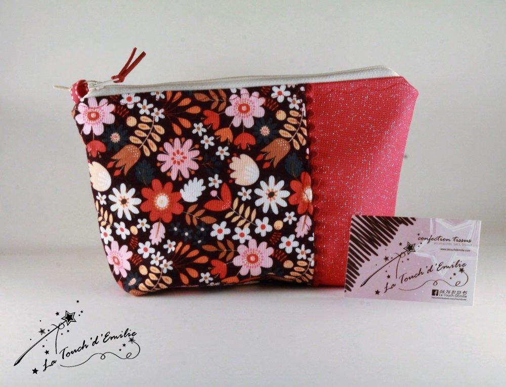 Trousse à...Velours Floral Rouge--2225395976435