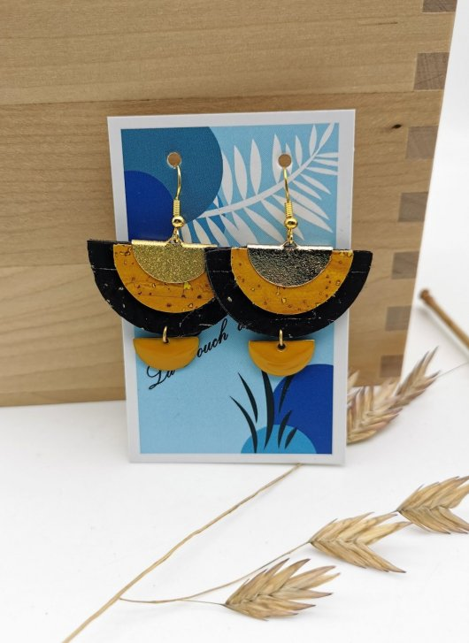 Boucles 'Demi Lune Luxe Gold'