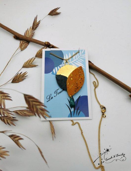 Collier Aube Bleu Citron