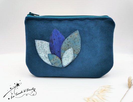 Pochette Nymphéa Céleste Bleu Outremer