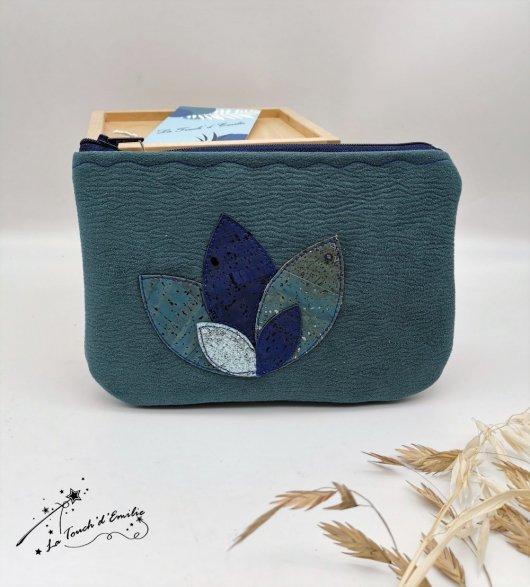 Pochette Nymphéa Céleste Bleu Canard