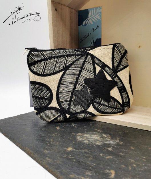 Pochette Plate Noir Luxe étoilé