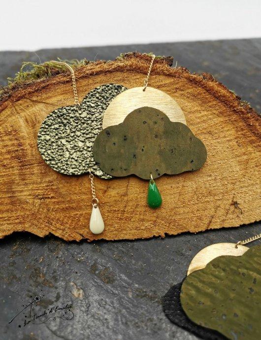 Sautoir Nuage Glitter Green