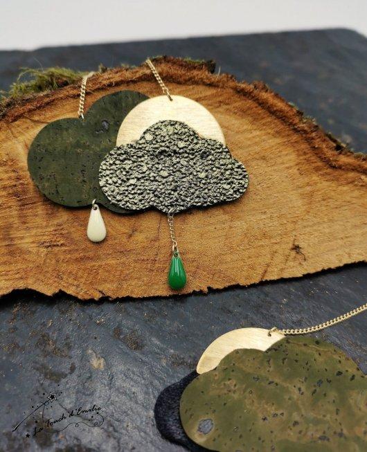 Sautoir Nuage Green Glitter