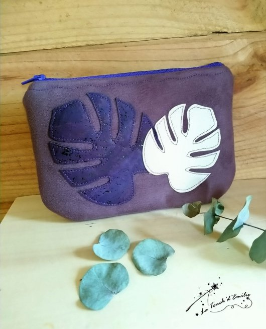 Pochette Monstera Purple