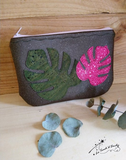 Pochette Monstera Pink