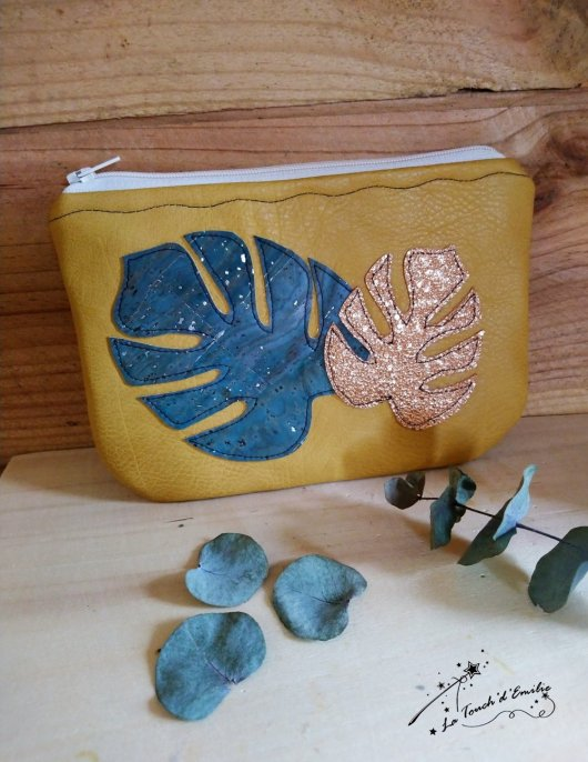Pochette Monstera Yellow