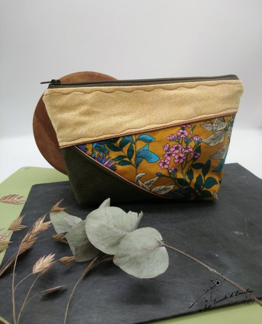 Trousse Maquillage Horizon Kaki floral