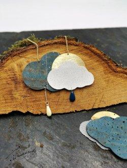 Sautoir Nuage Reine des Neiges Bleu