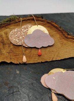 Sautoir Nuage Cuivre rose