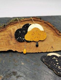 Sautoir Nuage Noir Gold