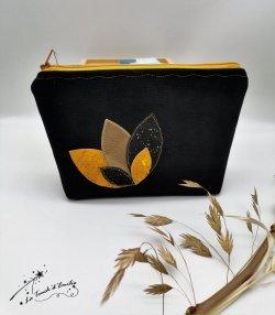 Trousse Maquillage Nymphéa Gold noire